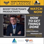 Image of Young Professionals of LAGCOE to Host Business Leadership Webinar